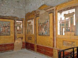 Uno degli affreschi della Casa dei Vettii, che raffigura il mito di Nefele.
